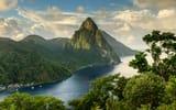 Обои: вид, облака, холмы, зелень, река, горы