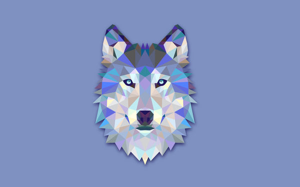 обои на рабочий стол абстракция волк № 639819 без смс