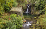 Обои: Rydal Mount, Lake District, Rydal Hall, водопад, лес, пейзаж, Cumbria, природа, Grotto waterfall, деревья