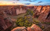 Обои: Небо, Canyon de Chelly, Деревья, Каньон, Природа