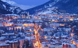 Обои для рабочего стола: winter, Comte, houses, Franche, Alps, cities, France