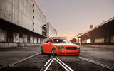 Обои: Orange, Tuning, Stance, Audi, Car