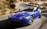 Обои: Aston Martin, Vantage, speed, V8, blue, car