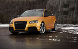 Обои: Schwabenfolia, Gold Orange, car, Audi, передок, RS3, тюнинг, машина, Spirtback