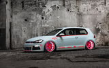 Обои: Volkswagen, tuning, Low Car, MkVII, Golf, Tron, Light