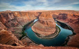 Обои: Arizona, Curve, River, Horseshoe Bend, пейзаж