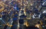 Обои: Chicago, Night, Flying
