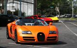 Обои для рабочего стола: Bugatti, supercar, orange, Vitesse, Veyron, Grand Sport, Roadster, Ferrari 458 Italia