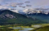 Картинки на телефон: Vermillion Lakes, Banff National Park, природа, горы, лес, озеро