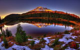 Обои для рабочего стола: Mount Rainier National Park, Reflection, Lake, Washington State