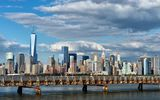 Обои: Ellis Island Bridge, Upper Bay, New York City, Manhattan, Верхняя Нью-Йоркская бухта, мост, Манхэттен, Нью-Йорк, здания, панорама