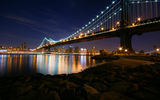 Обои: Manhattan, Night, Bridge