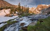Обои: Waterfall, Lake Isabell, Indian Peaks, Colorado