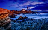 Обои: Lighthouse, Maine, North America