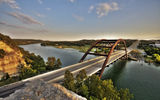 Обои: USA, Pennybacker_bridge, город, Loop360_bridge, city, Austin, Texas