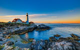 Обои: Portland Head Lighthouse, берег, море, маяк, скалы