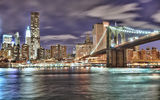 Обои: NYC, Brooklyn Bridge, city, USA, New York