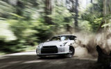 Обои: Nissan, Dust, gt-r, Skid, White, Drift, Turn, Car