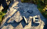 Обои: stones, heart, Word, love