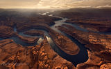 Обои: Glen Canyon National Recreation Area, Sunset on Planet Earth, Confluence of San Juan & Colorado Rivers