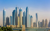 Обои: Dubai, buildings, sea, Marina, UAE, skyscrapers, water, sky, plants, skyline, United Arab Emirates