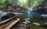 Обои: Coos County, South Fork, река, камни, водопад, лес, природа, озеро, Coquille River, USA, Oregon