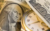 Обои: Dollar, clock, Franklin, green