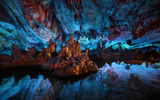 Обои для рабочего стола: Reed Flute Cave, Reflections, Guilin, China, Still Water