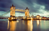 Обои: Tower bridge, night, london, англия, лондон, ночь, england, Thames River