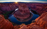Обои для рабочего стола: Horse shoe bend, colorado river, природа, arizona, река, каньон, red dessert