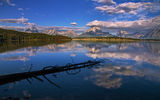 Обои для рабочего стола: grand teton, mountain, forest, lake, sky, wyoming