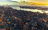 Обои: Manhattan, панорама, небоскрёбы, Нью-Йорк, Манхэттен, здания, New York City