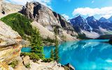 Обои: Moraine, лес, landscape, lake, Canada, озеро, Banff National park