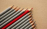 Обои: pencils, red, different, unique, gray