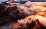 Обои: mountain, sunset, cloud