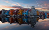Обои: Floating Village, netherlands, groningen