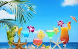 Обои: tropical, море, paradise, пляж, fruit, beach, sea, fresh, фрукты, коктейль, summer, cocktail, drink