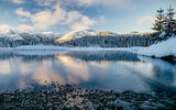 Обои для рабочего стола: New Day Rising, Gold Creek Pond - Hyak, Washington