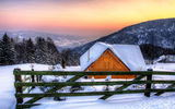 Обои: snow, пей, colors, hut, tree, nice, season, winter, scenery, зимой, landscape, architecture, mountains, cool, hdr, сезон, beautiful, trees, хижина, view, sunset, house, beauty, вид, архитектура, Снег, forest, sky, дом