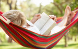 Обои: reading a book, hammock, relax