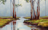 Обои: ARTSAUS, RED RIVER GUMS AUSTRALIA, РИСУНОК, АРТ