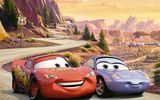 Обои: Cars 2, U.S. Route 66, racing, animated film, Ра, Тачки 2, Sally Carrera, Pixar, Walt Disney, Lightning, мультфильм, Уолт Дисней, Owen Wilson, Radiator Springs, McQueen, Piston Cup championship, sport