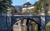 Обои для рабочего стола: Imperial Palace, Nijubashi Bridge, Japan, Императорский дворец, Япония, Tokyo, Токио, мост