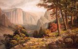 Обои: живопись, painting, картина, Californie, 1887, The Mariposa Trail in the Yosemite Valley, Andrew Melrose