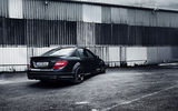 Обои: Tuning, Black, AMG, C63, work, Mercedes-Benz