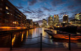 Обои: закат, london, sunset, лондон, england, англия, twilight, canary wharf