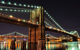 Обои: USA, город, огни, Brooklyn Bridge, New York City, Нью-Йорк, мост, Brooklyn, East River, река, ночь, Бруклинский, Manhattan Bridge, Ист-Ривер, Manhattan, NYC, Манхэттенский
