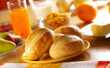 Обои: breakfast, bread, juice, bread products