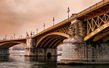Обои: Будапешт, мост Маргит, Венгрия, Budapest, Дунай, Margit Bridge, река