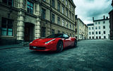 Обои: Ferrari, Red, City, carriage-way, Street, Performance, Supercar, Italia, 458